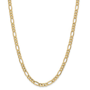 "14k 2.5mm Semi-Sold Figaro Link Chain 16"" - 24"""