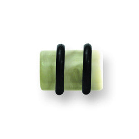 Polyester Faux Organic Stone Plugs 2G (6.5mm) 3/8 Long (10mm) Plug BPLAO101-2-KW