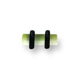 Polyester Faux Organic Stone Plugs 8G (3.2mm) 3/8 Long (10mm) Plug BPLAO101-8-KW - shirin-diamonds