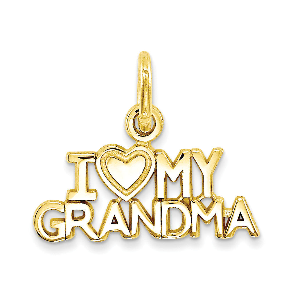 14k I Love My Grandma Charm C397 - shirin-diamonds