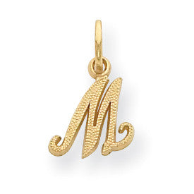 14ky Casted Initial M Charm C564M - shirin-diamonds