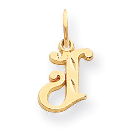 14k Initial J Charm C565J - shirin-diamonds