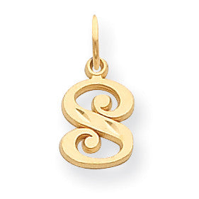 14k Initial S Charm C565S - shirin-diamonds