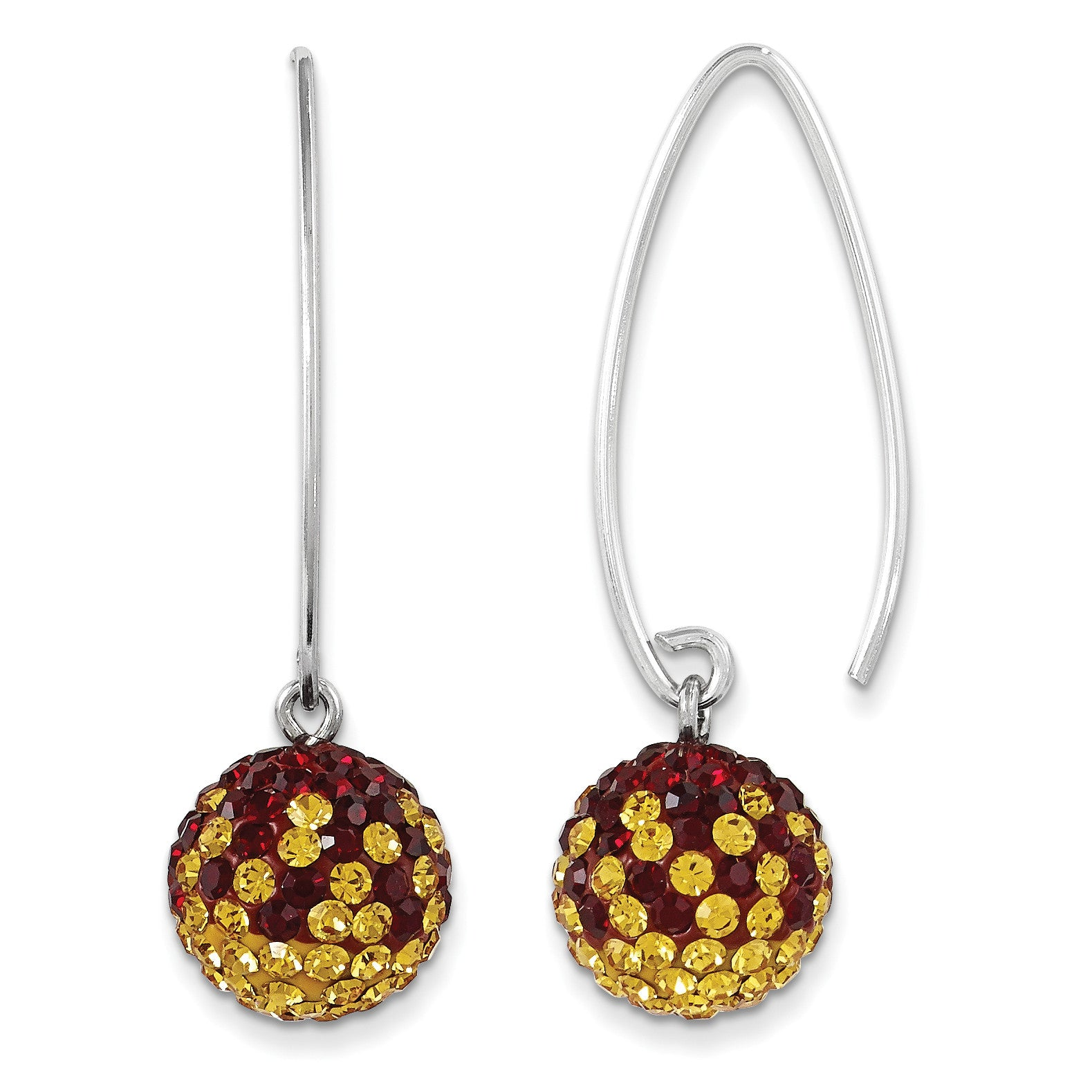 Sterling Silver Swarovski Elements Washington  Spirit Ball Earrings CE0174-026 - shirin-diamonds