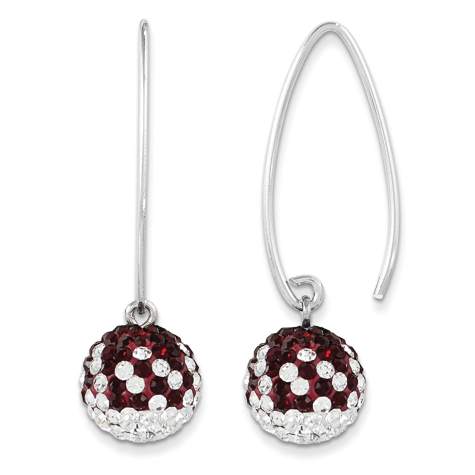 Swarovski Elements Mississippi State U Earrings CE0174-48 - shirin-diamonds