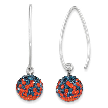 Sterling Silver Swarovski Elements U of Virginia Earrings CE0174-59 - shirin-diamonds