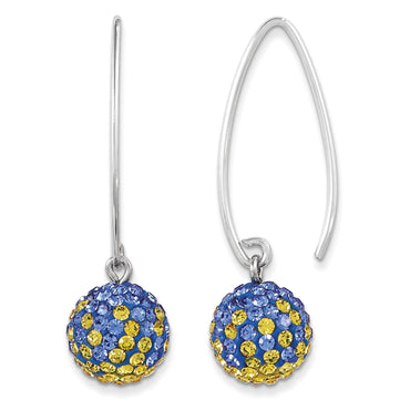 Sterling Silver Swarovski Elements Los Angeles Spirit Ball Earrings CE0174-69 - shirin-diamonds