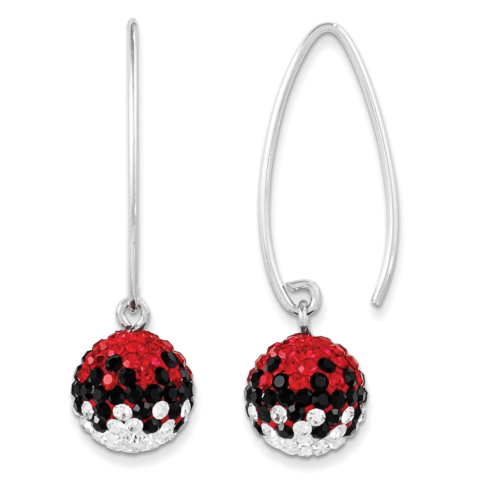 Sterling Silver Swarovski Elements U of South Carolina Earrings CE0174-73 - shirin-diamonds