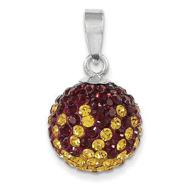 Sterling Silver Swarovski Elements Washington  Spirit Ball Pendant CP6012-026 - shirin-diamonds