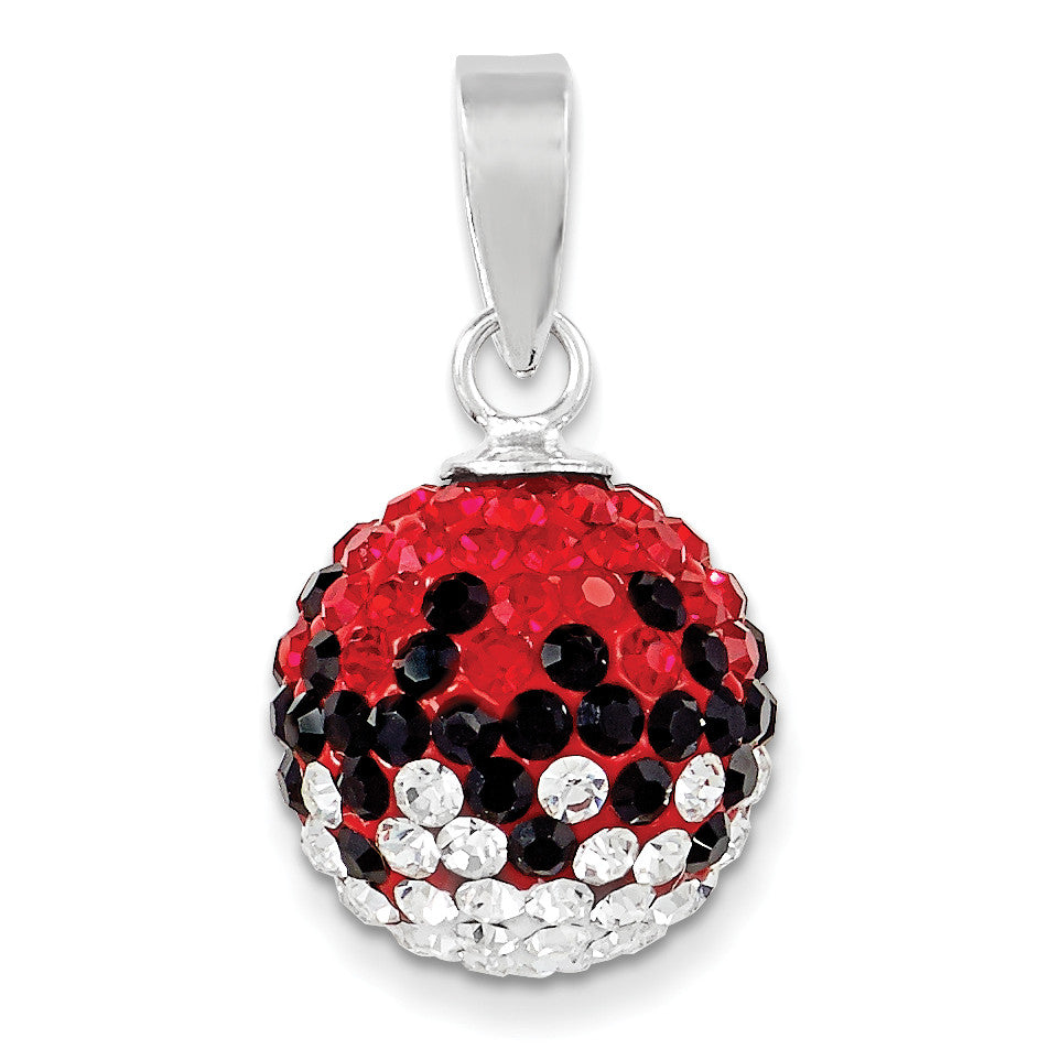 Sterling Silver Swarovski Elements U of South Carolina Ball Pendant CP6012-73 - shirin-diamonds