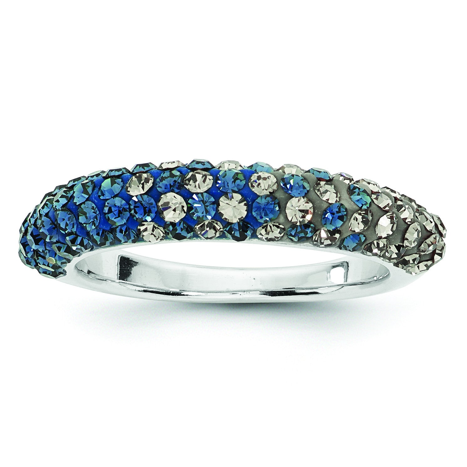 Swarovski Elements Georgetown U Domed Ring CR0028 - shirin-diamonds
