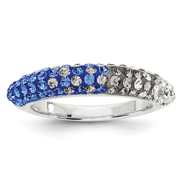 Swarovski Elements Seton Hall U Domed Ring CR0028 - shirin-diamonds