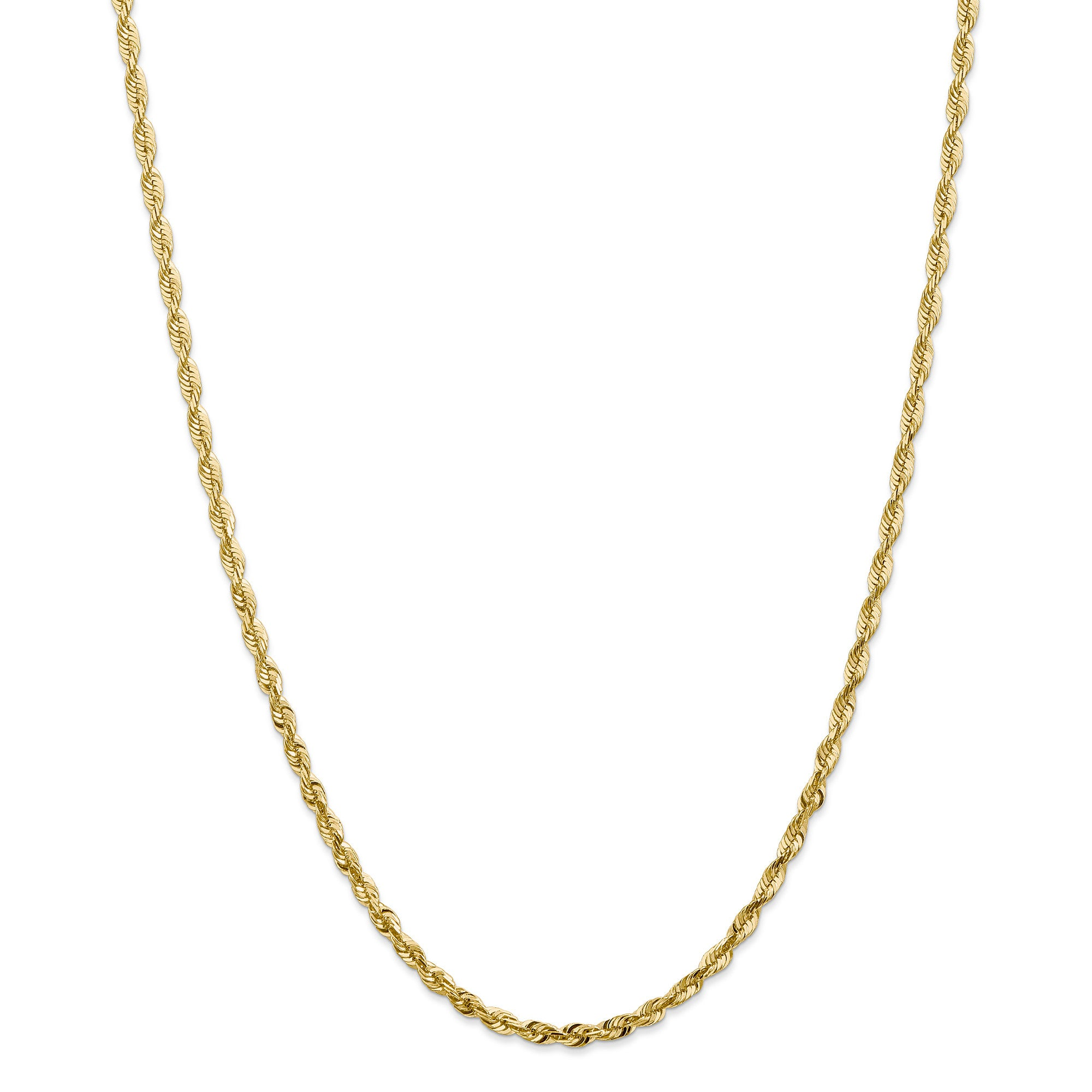 14k 2.8mm D/C Extra-Light Rope Chain EXL030 - shirin-diamonds