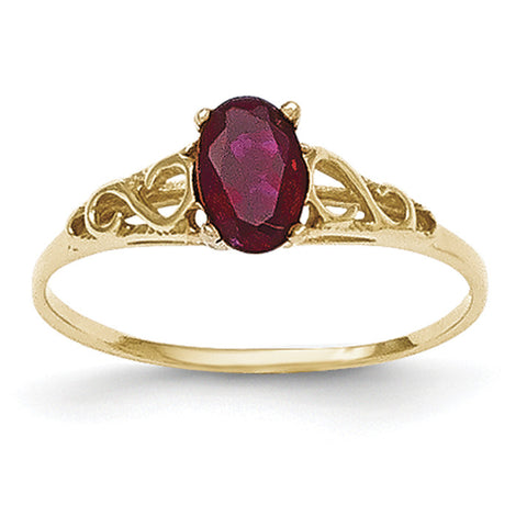14k Madi K Synthetic Garnet Ring GK275 - shirin-diamonds