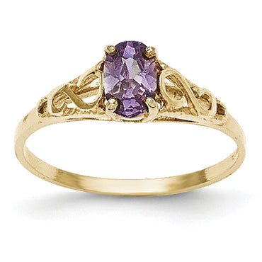 14k Madi K Synthetic Amethyst Ring GK276 - shirin-diamonds