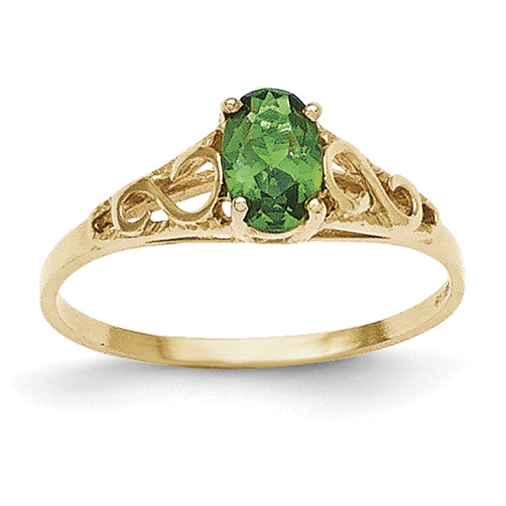 14k Madi K Synthetic Emerald Ring GK279 - shirin-diamonds