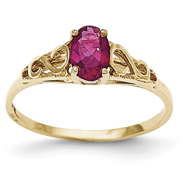 14k Madi K Synthetic Ruby Ring GK281 - shirin-diamonds