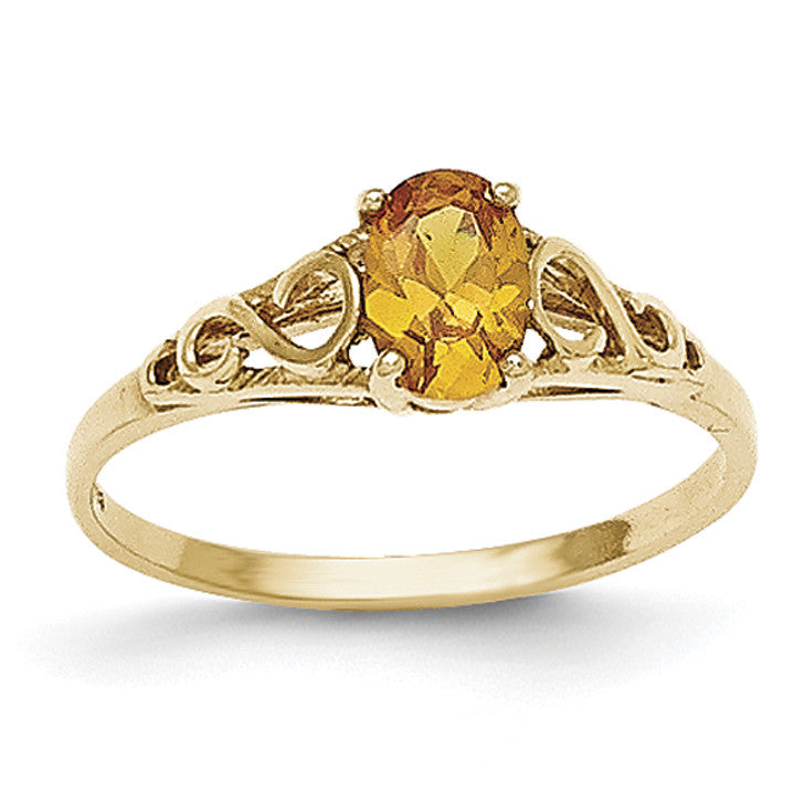 14k Madi K Synthetic Citrine Ring GK285 - shirin-diamonds