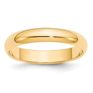 14k 4mm Half-Round Wedding Band HR040 - shirin-diamonds