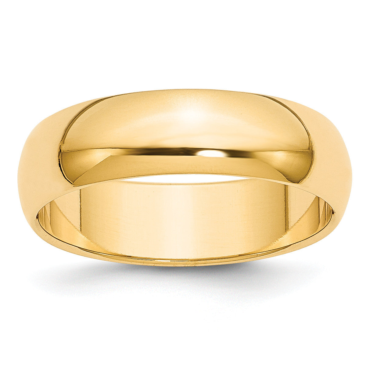 14k 6mm Half-Round Wedding Band HR060 - shirin-diamonds