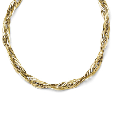 Leslies 14k Polished Fancy Link Necklace LF253 - shirin-diamonds