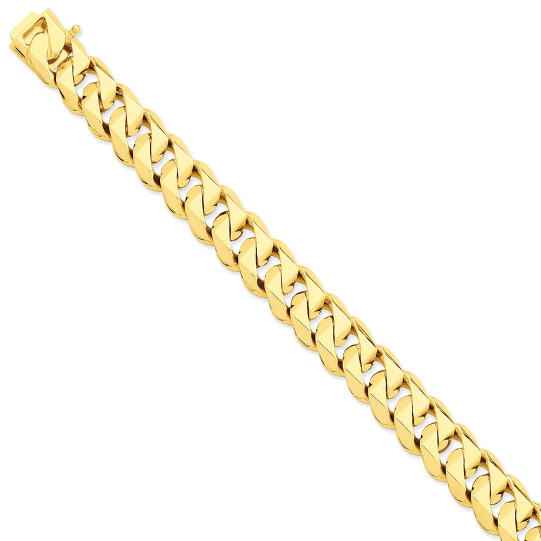 14k Hand Polished Traditional Link C LK121 - shirin-diamonds