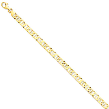 14k 6.5mm Hand-polished Fancy Anchor Link Bracelet LK678 - shirin-diamonds