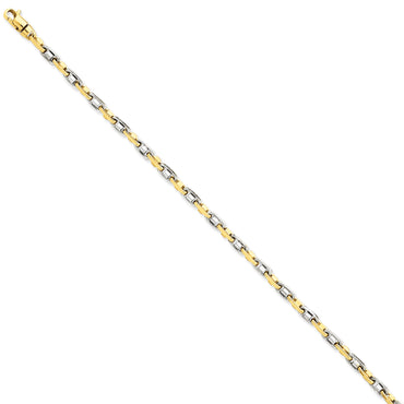 14k Two-tone 3.5mm Fancy Link Chain LK696 - shirin-diamonds