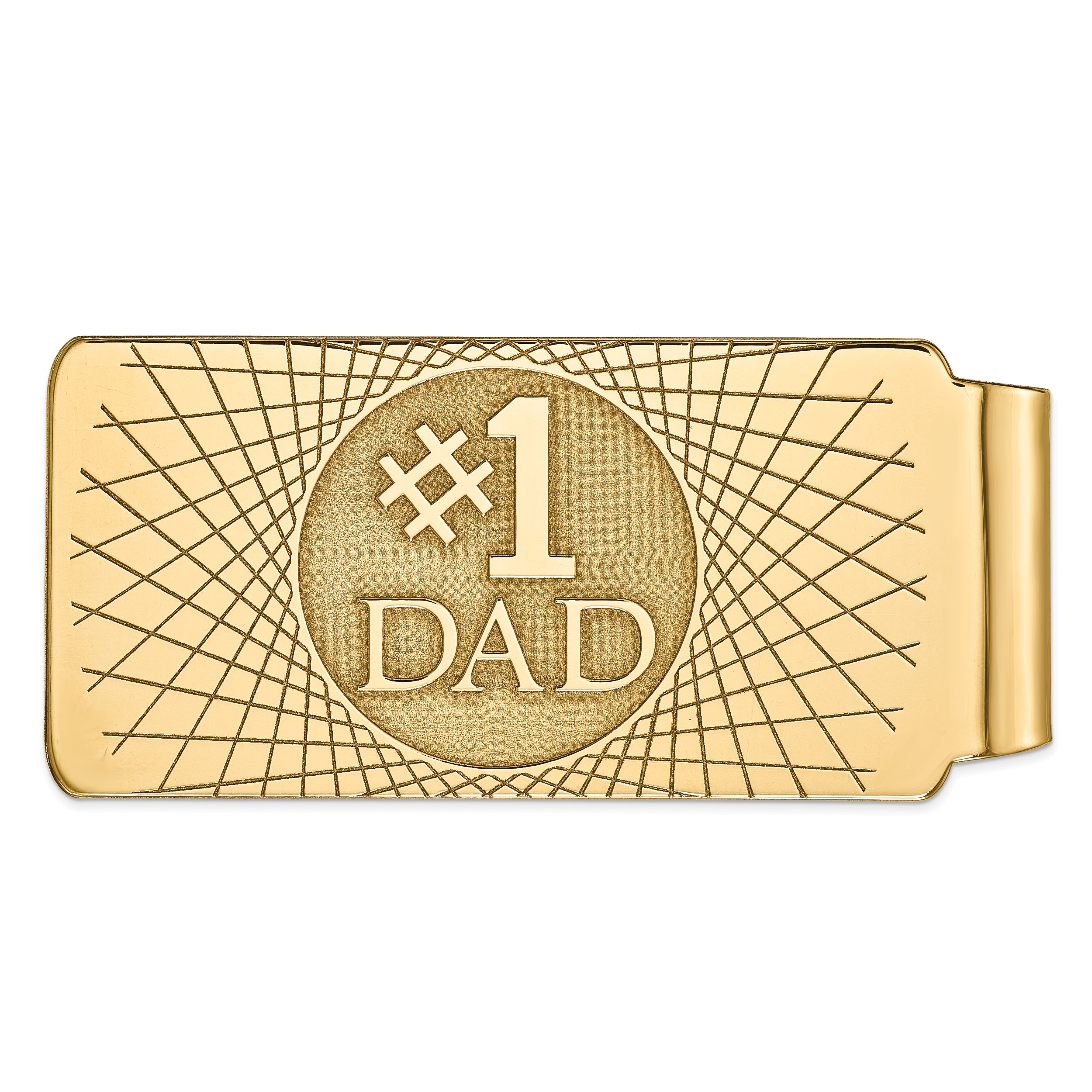14k Money Clip MC111A (17.8 Grams) - shirin-diamonds