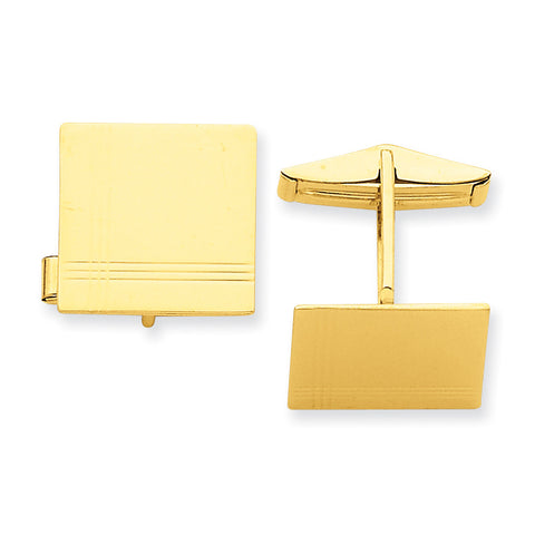14k Cuff Links MC175 (0.51 Grams) - shirin-diamonds