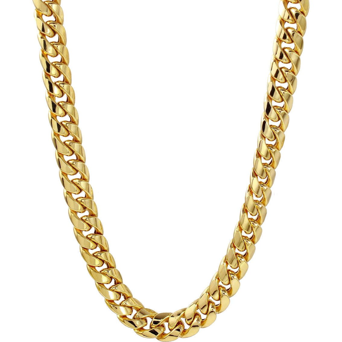 10K Yellow Gold 12Mm Solid Miami Cuban Link Chain 24