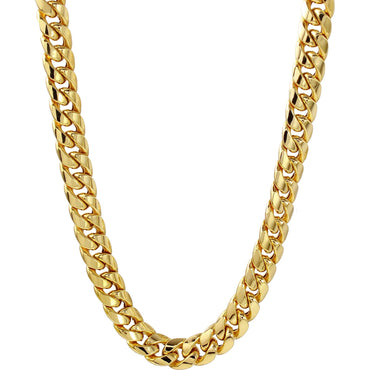 "10K Yellow Gold 12Mm Solid Miami Cuban Link Chain 24"" 231.3 Grams"