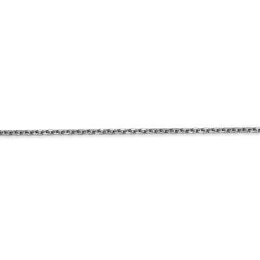 14k White Gold 1.65mm Solid Diamond-cut Cable Chain Anklet PEN149 - shirin-diamonds