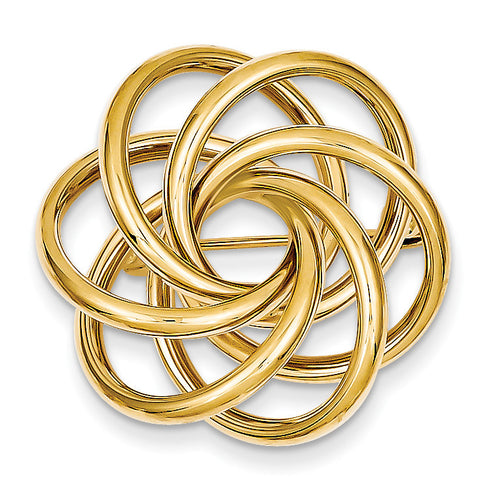 14k Circle Pin PIN155 ( Grams) - shirin-diamonds