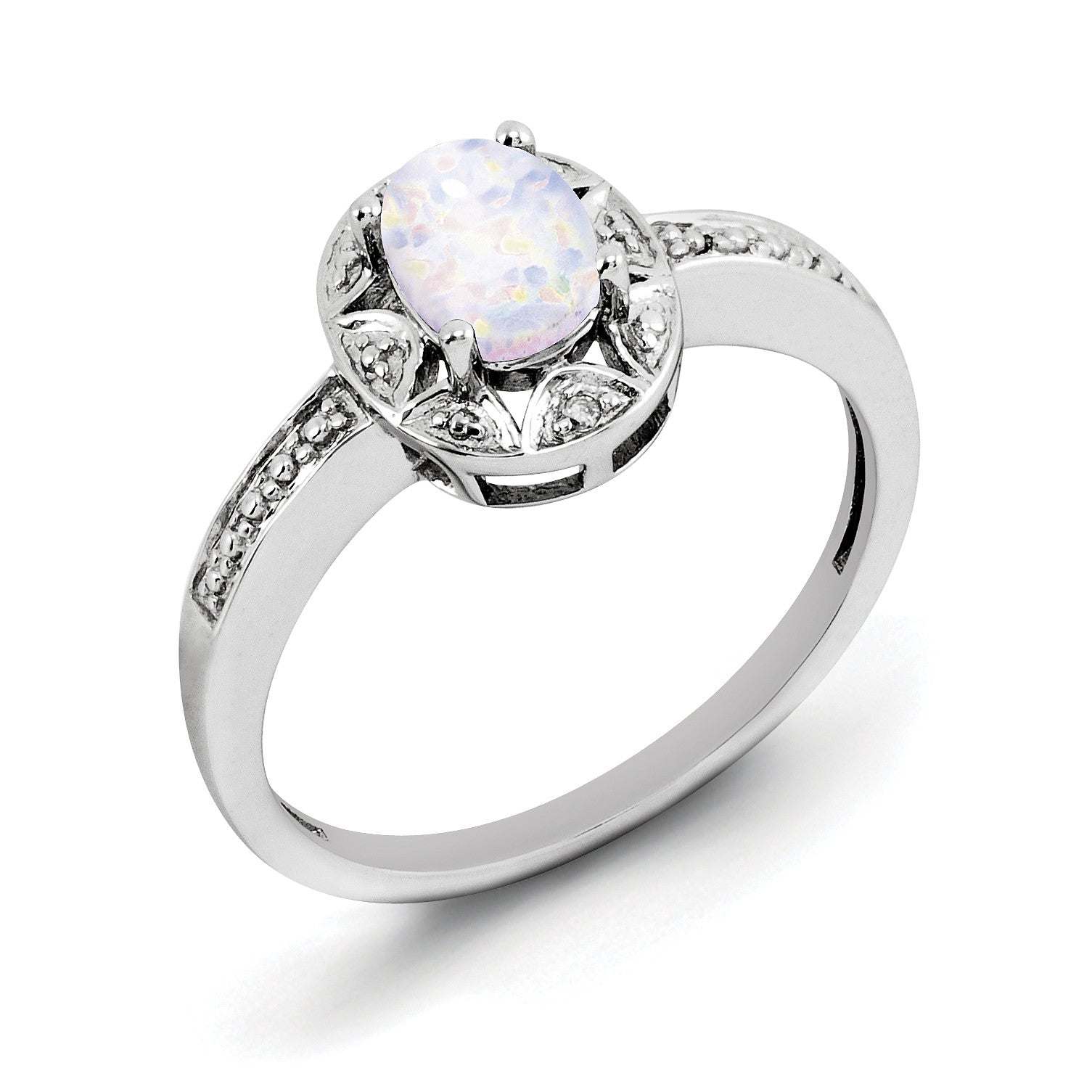 Sterling Silver /& CZ Brilliant Embers Heart Ring QMP1108