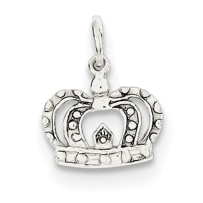 Sterling Silver Crown Charm QC256 - shirin-diamonds