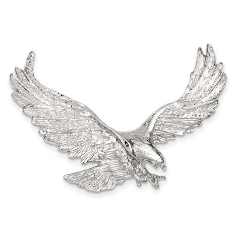 Sterling Silver Eagle Pendant QC4065 - shirin-diamonds