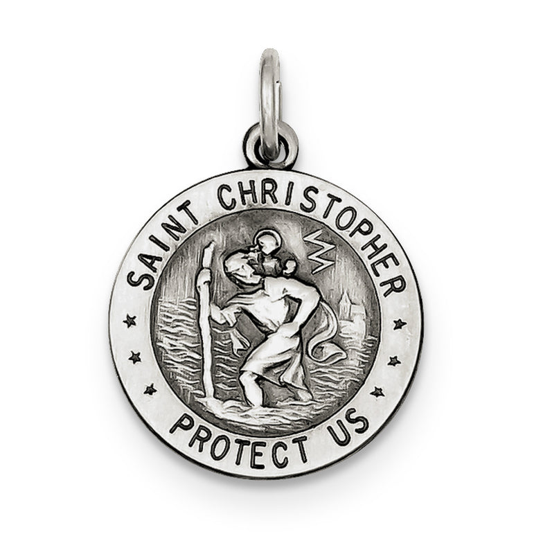 Sterling Silver St.Christopher US Army Medal QC4403 - shirin-diamonds