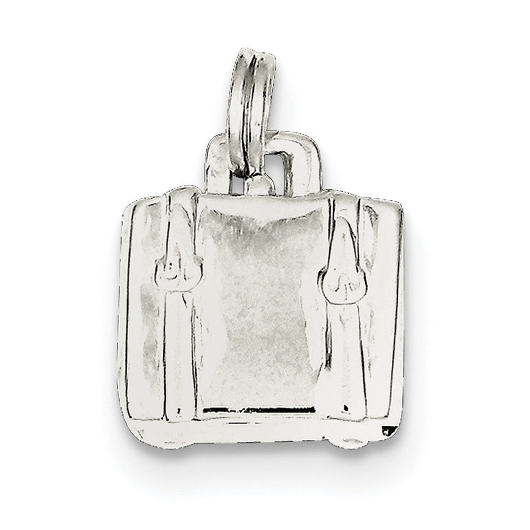 Sterling Silver Suitcase Charm QC5057 - shirin-diamonds