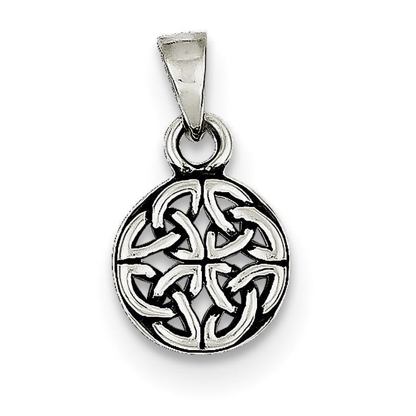 Sterling Silver Antiqued Pendant QC6133 - shirin-diamonds