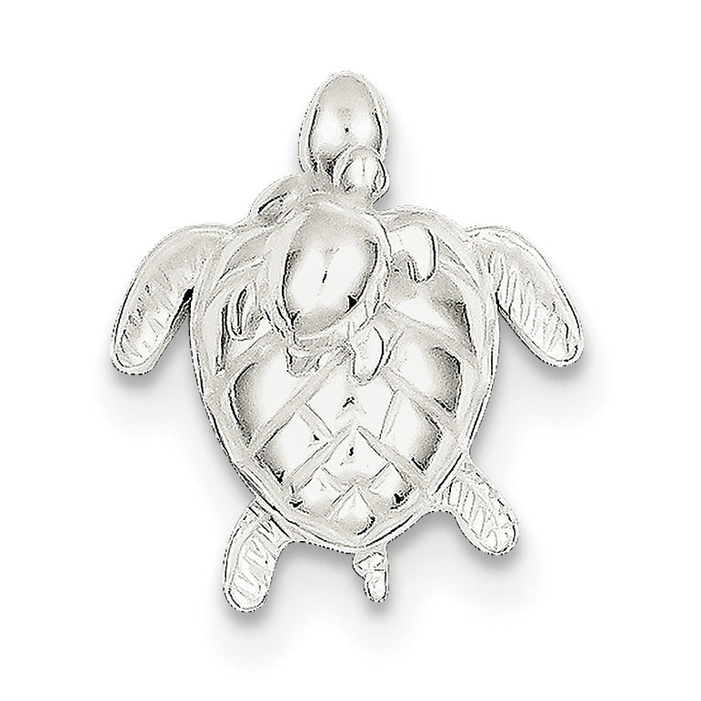 Sterling Silver Mother & Baby Turtle Pend QC6309 - shirin-diamonds