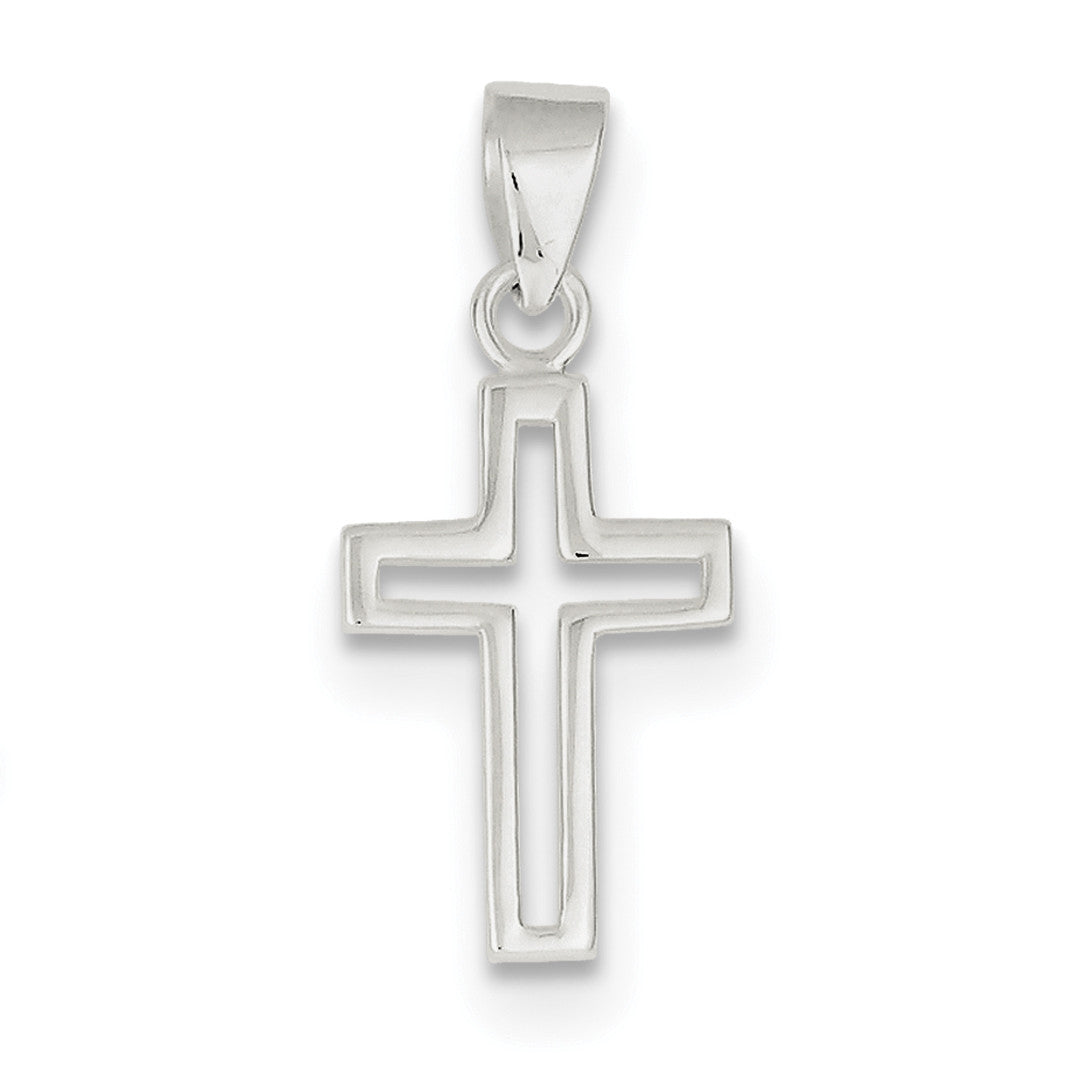 Sterling Silver Cross Pendant QC6636 - shirin-diamonds