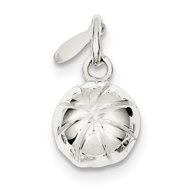 Sterling Silver 3D Basketball Charm QC706 - shirin-diamonds
