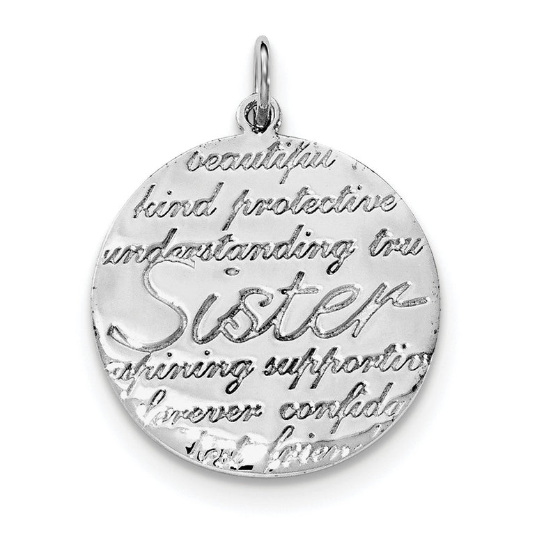 Sterling Silver Rhodium-plated Sister Pendant QC8102 - shirin-diamonds