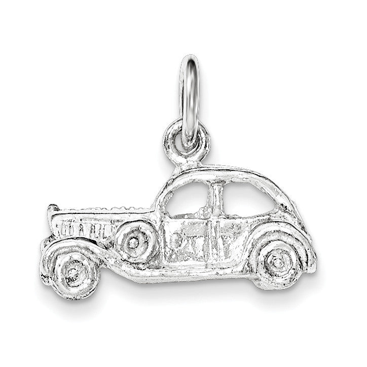 Sterling Silver Polished 3-D Old Fashioned Car Pendant QC8630 - shirin-diamonds