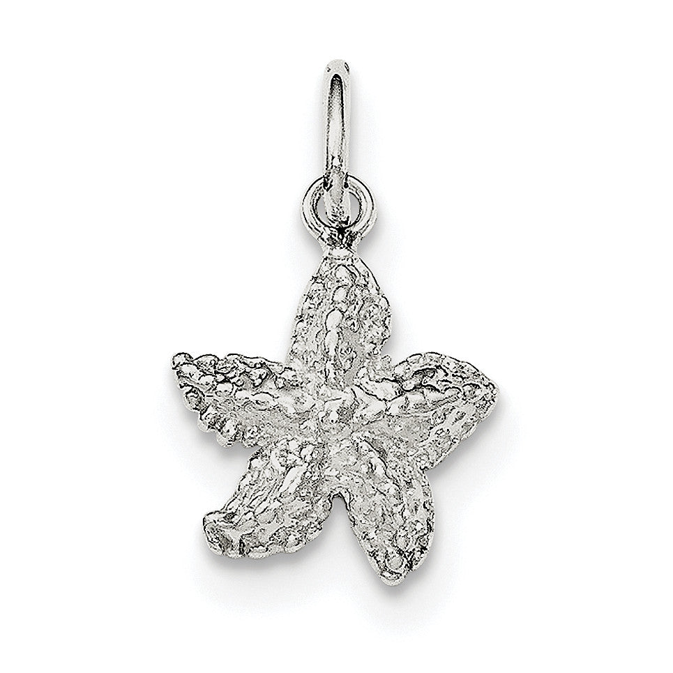 Sterling Silver Polished Starfish Charm QC8689 - shirin-diamonds