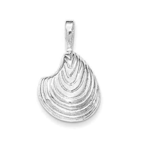 Sterling Silver Polished Arch Shell Chain Slide Pendant