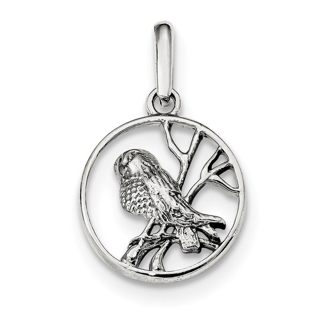 Sterling Silver Bird Pendant QC9333 - shirin-diamonds