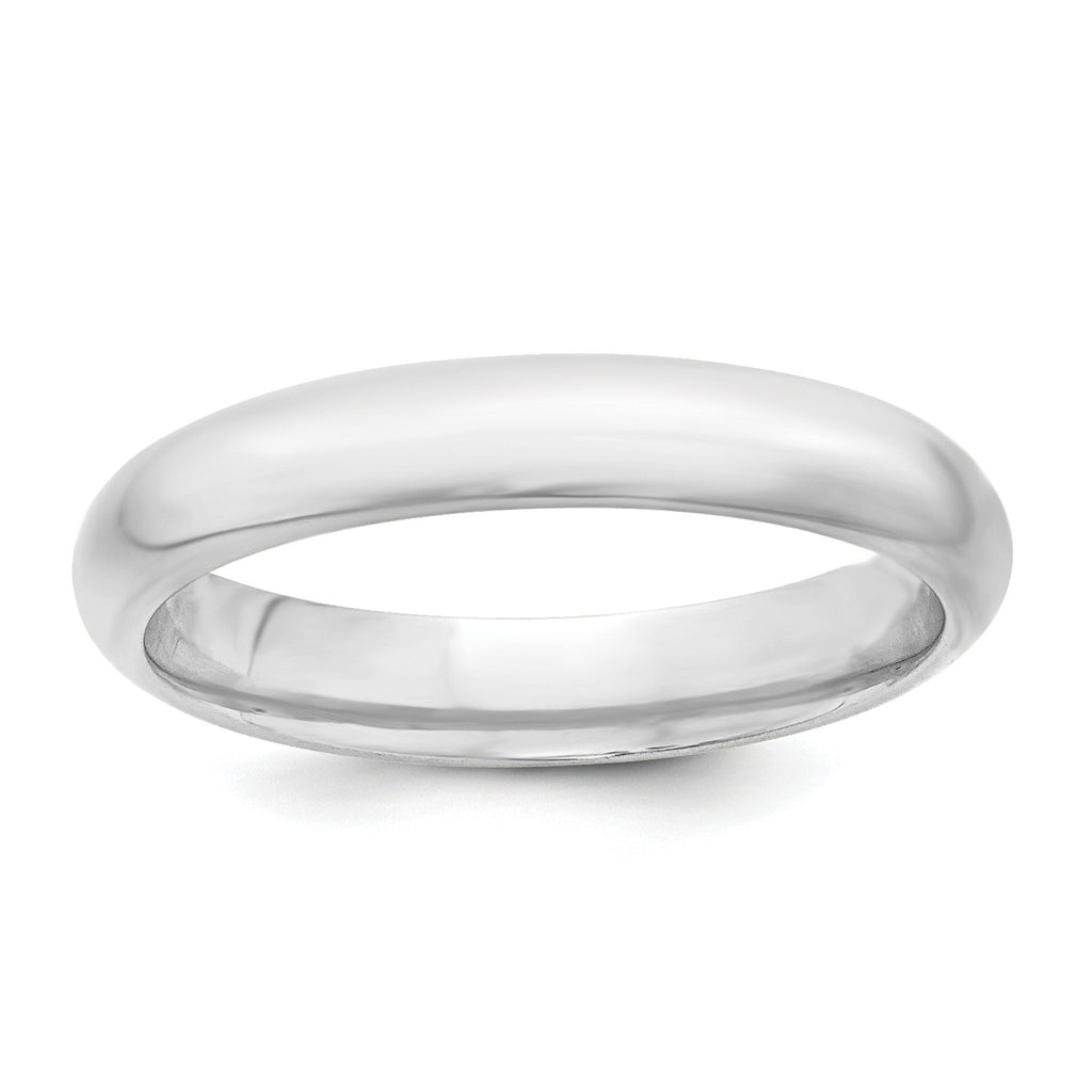 Sterling Silver 4mm Comfort Fit Band QCF040
