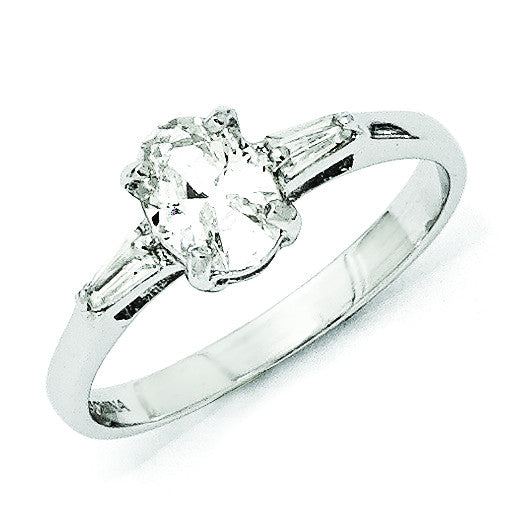 Sterling Silver CZ Ring QCM1045